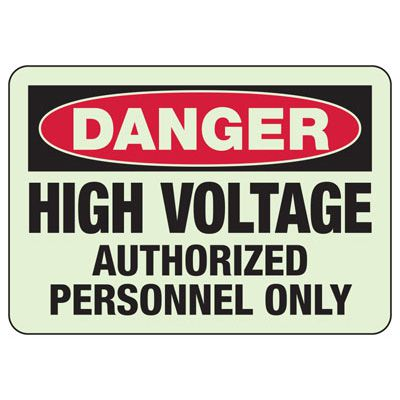Danger High Voltage Authorized Personnel - Electrical Safety Sign
