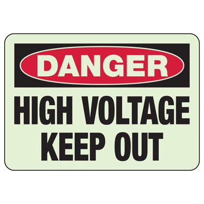 Electrical Danger High Voltage - Electrical Sign