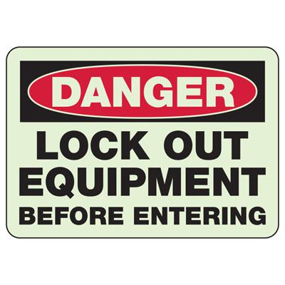 Danger Lock Out Equipment - Electrical Safety Sign