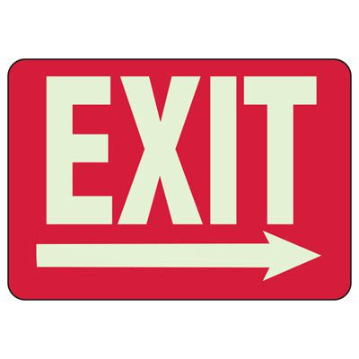 Exit Arrow Right - Setonglo Luminous Exit And Path Marker Signs