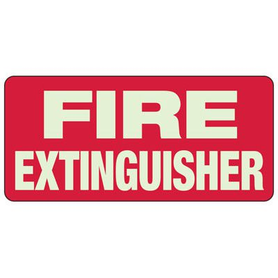 Fire Extinguisher - Exit and Fire Glow Signs