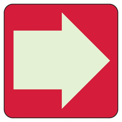 Directional Arrow (Graphic) - Glow-In-The-Dark Directional Signs
