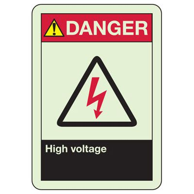 Danger High Voltage - Fire Safety Sign