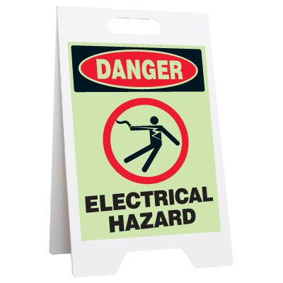 Glow Floor Stands - Danger Electrical Hazard