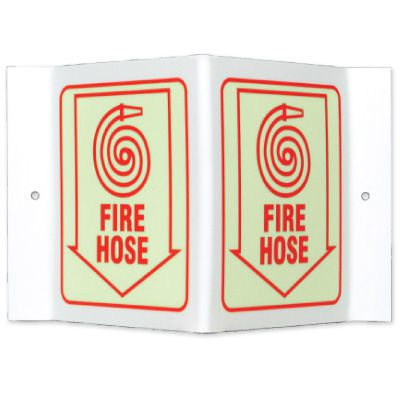 Glow-In-The-Dark Projecting Wall Signs - Fire Hose