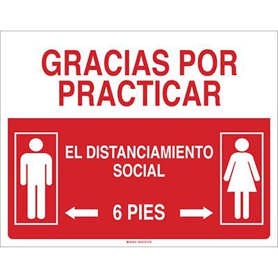 Gracias Por Practicar El Distanciamiento Social Sign