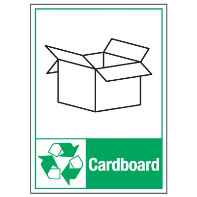 Graphic Recycling Labels - Cardboard