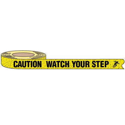 Caution Watch Your Step Warning Grit Tape