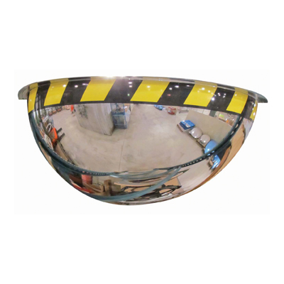Half Dome Acrylic Security Mirror with Safety Border
