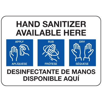 Hand Sanitizer Available Bilingual Sign