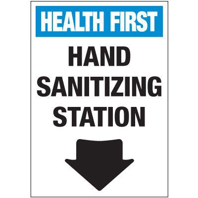 Hand Sanitizing Station Label
