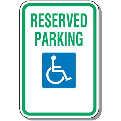 Handicap Parking Signs - ADA & Federal Compliant (MUTCD)