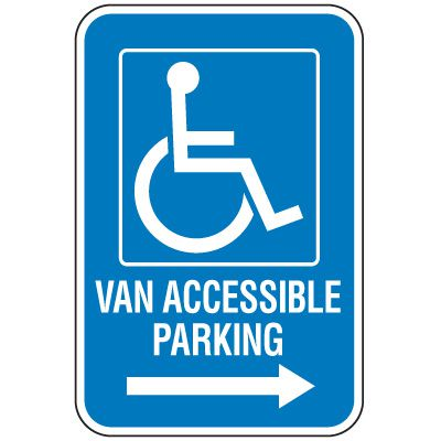 Handicap Parking Signs - Van Accessible Parking (Right Arrow)