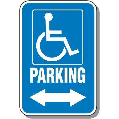 Handicap Signs - Parking (Symbol of Access & Double Arrow)