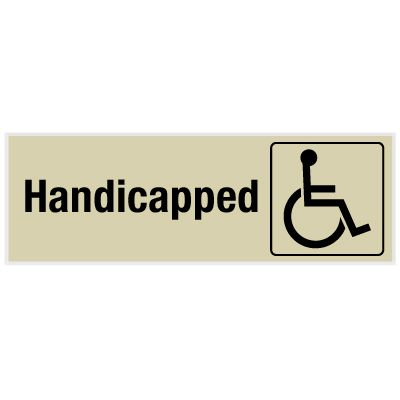 Handicapped - Engraved Rest Room Signs