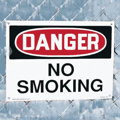 Harsh Condition OSHA Signs - No Smoking