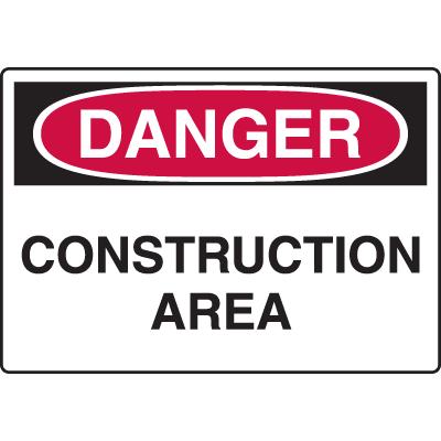 Harsh Condition OSHA Signs - Construction Area