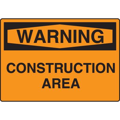 Harsh Condition OSHA Signs - Warning - Construction Area