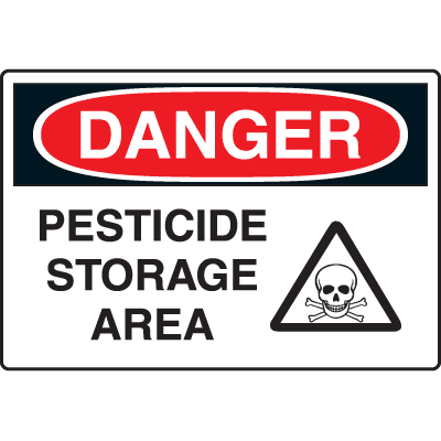 Harsh Condition OSHA Signs - Danger - Pesticide Storage Area
