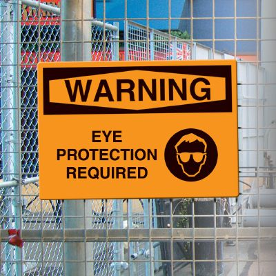 OSHA Warning Signs - Warning Eye Protection Required