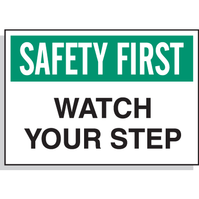Hazard Warning Labels - Safety First Watch Your Step