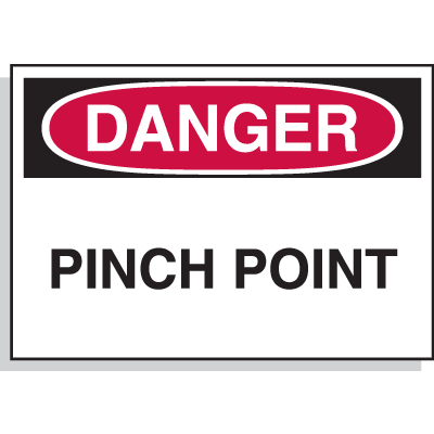 Hazard Warning Labels - Danger Pinch Point
