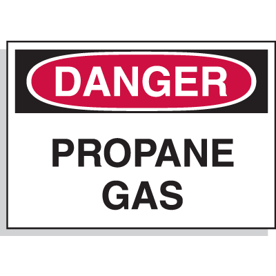 Hazard Warning Labels - Danger Propane Gas