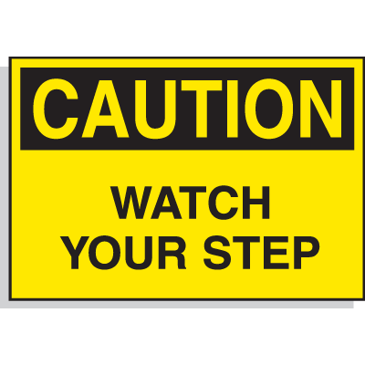 Hazard Warning Labels - Caution Watch Your Step