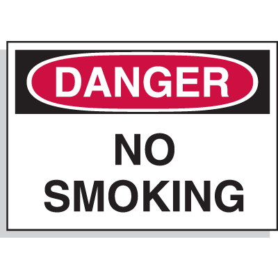 Hazard Warning Labels - Danger No Smoking