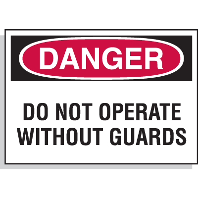 Hazard Warning Labels - Danger Do Not Operate