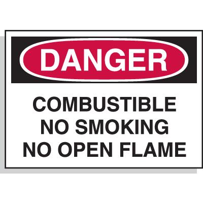 Hazard Warning Labels - Danger Combustible