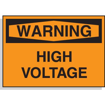 Hazard Warning Labels - Warning High Voltage