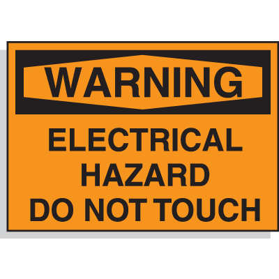 Hazard Warning Labels - Warning Electrical Hazard Do Not Touch