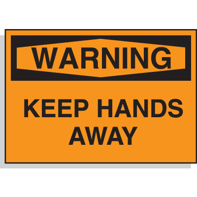 Hazard Warning Labels - Warning Keep Hands Away