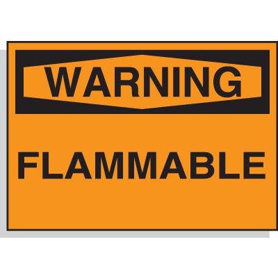Chemical Hazard Labels - Warning, Flammable