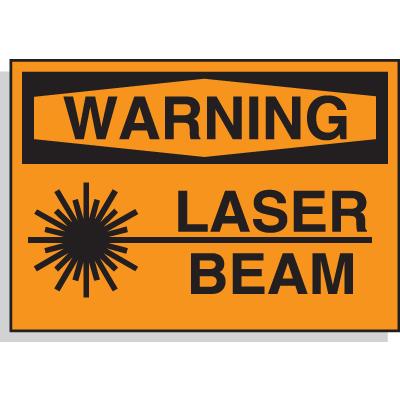 Hazard Warning Labels - Warning Laser Beam