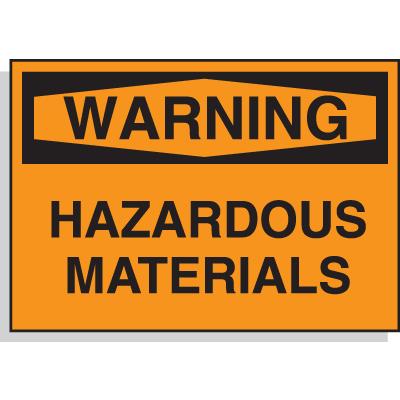 Hazard Warning Labels - Warning Hazardous Materials