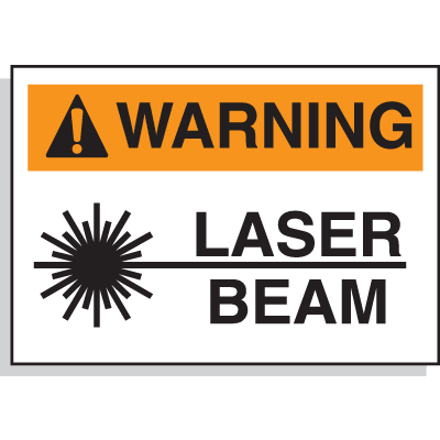Hazard Warning Labels - Laser Beam