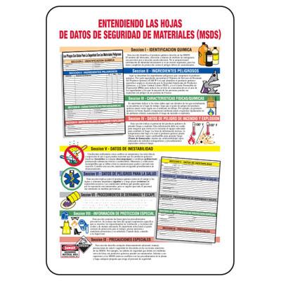 Spanish Entendiendo La Hojas - Industrial Hazmat Sign