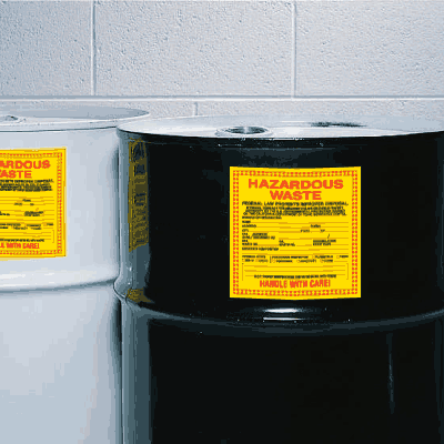State of New Jersey Hazardous Waste Container Labels
