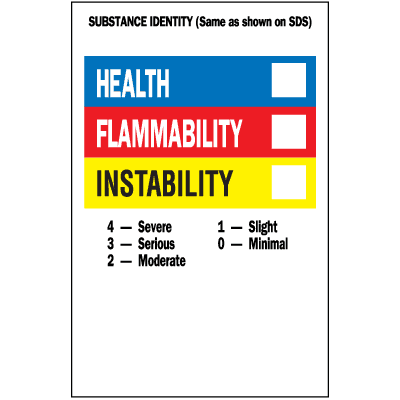 HazCom Labels-On-A-Roll- Substance Identity