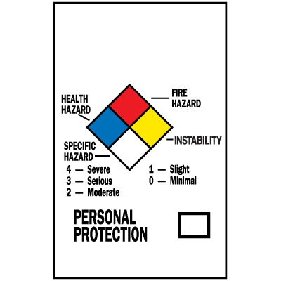 HazCom Labels-On-A-Roll - NFPA Diamond