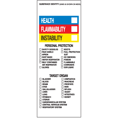 HazCom Labels-On-A-Roll - Substance Identity