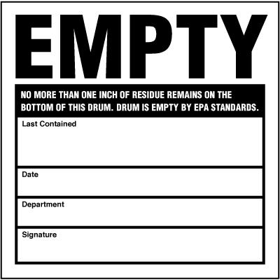 Hazwaste & Drum Labels-On-A-Roll - Empty