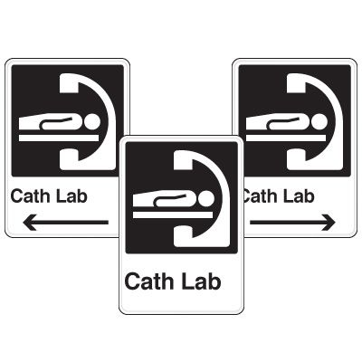 Health Care Facility Wayfinding Signs - Cath Lab