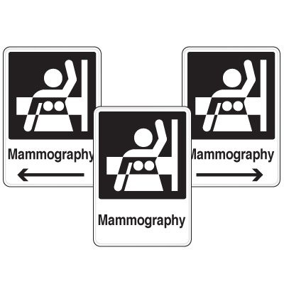 Health Care Facility Wayfinding Signs - Mammography
