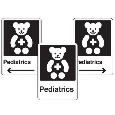 Health Care Facility Wayfinding Signs - Pediatrics