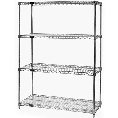 Heavy-Duty Chrome Wire Shelving