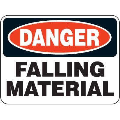 Heavy-Duty Hazardous Work Zone Signs - Danger Falling Material