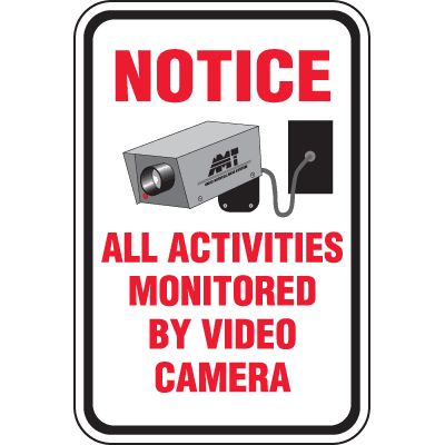 Heavy-Duty Property Protection Signs- Monitored By Video Camera